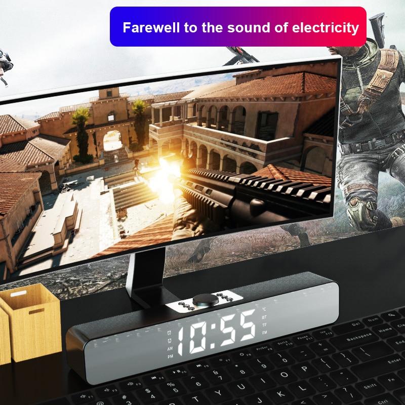 Mirror LED Alarm Clock Multi-Function Wireless Bluetooth-compatible Music Player Electronic Digital Table Clock Desktop Speaker enlarge