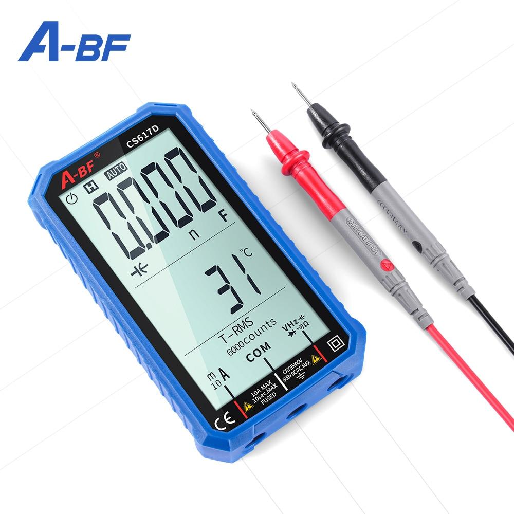 A-BF الرقمية الذكية المتعدد Cs617d 4.7in Lcd تيار مستمر/التيار المتناوب الجهد الحالي اختبار المقاومة True-rms