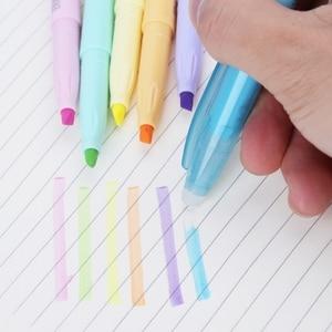 6 Color Erasable Highlighter Fluorescent Liquid Chalk Marker Pen Stationery