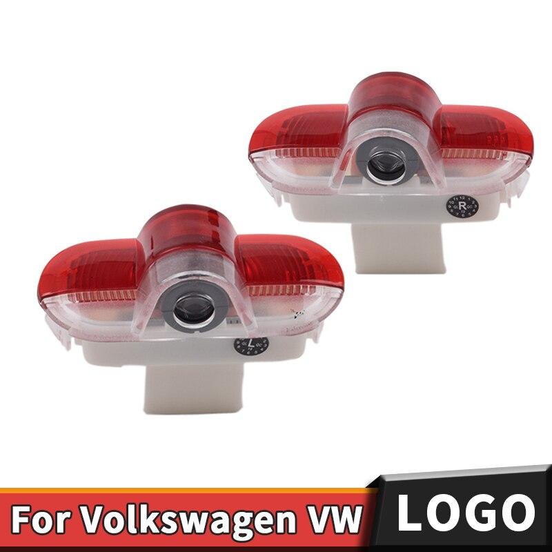 Coche Luz de bienvenida para puerta logotipo láser LED lámpara de proyector para VW Volkswagen Golf 4 MK4 Golf4 Touran escarabajo Caddy Bora(2003,2006-2008)