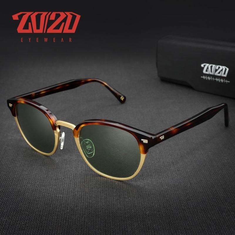 2020 Acetate Sunglasses Leader Mixing Material Alloy Sun Glasses Stripe Frame Temple Men Trend Desig