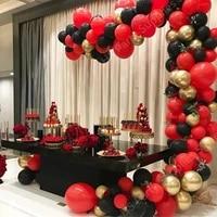102pcs metallic gold red black latex balloon arch 10inch engagement wedding birthday party decoration baby shower balloon garlan