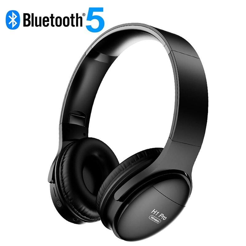 H1 Pro-auriculares, inalámbricos por Bluetooth, auriculares genuinos con cancelación de ruido y micrófono para videojuegos, soporta tarjeta TF