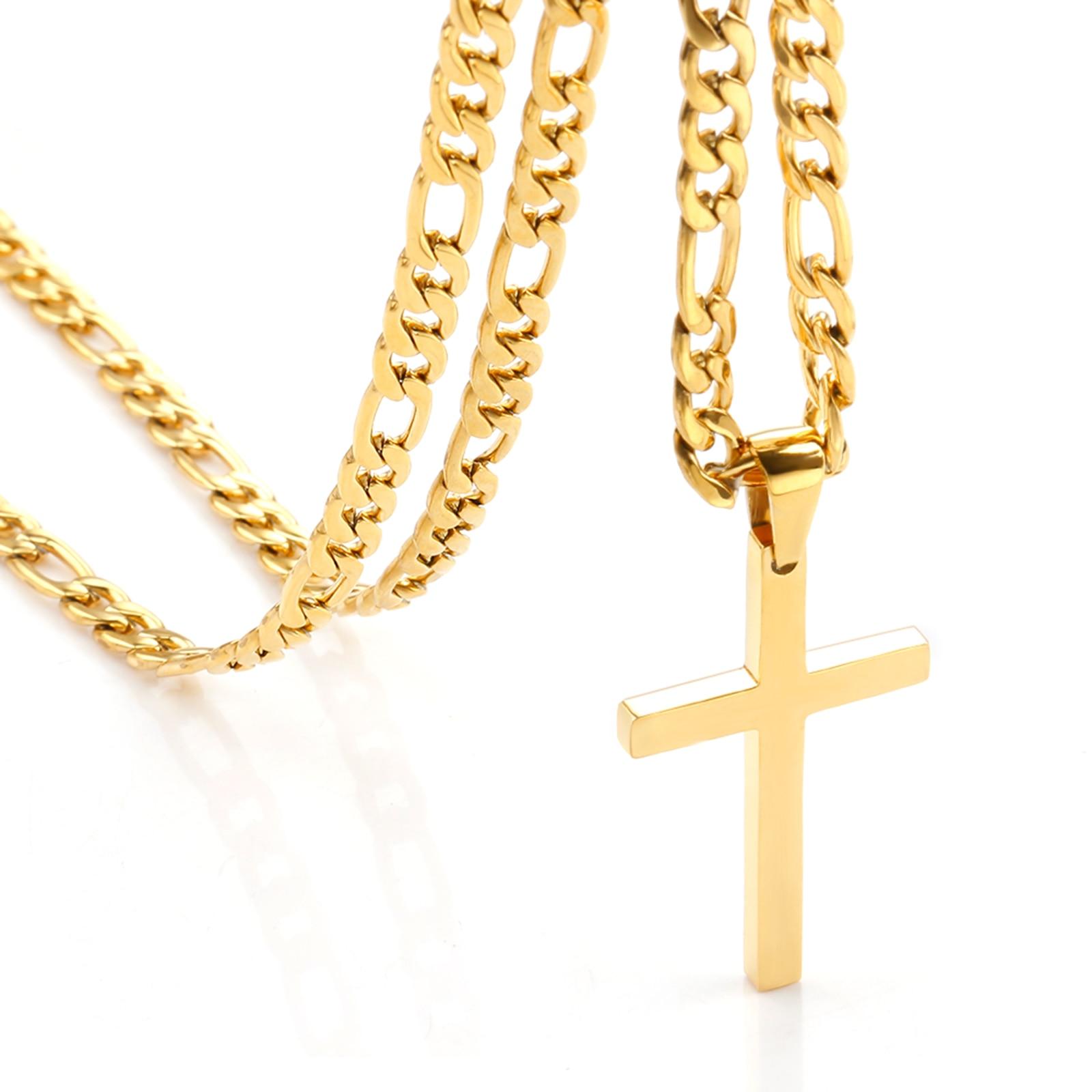 Кулон-в-форме-Креста-на-Водонепроницаемый-nk-ожерелья-для-мужские-классические-туфли-в-стиле-«панк»-из-нержавеющей-стали-и-цепочкой-плетени