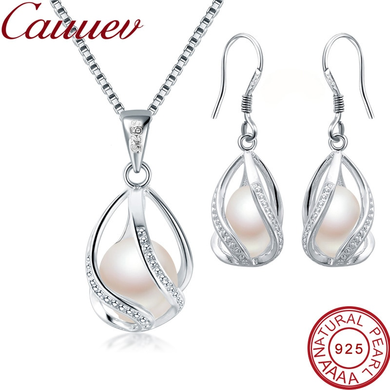 Женский-ювелирный-комплект-из-жемчуга-серебро-925-пробы-8-9-мм-в-богемном-стиле-черный-белый-розовый-фиолетовый-цвет-2021