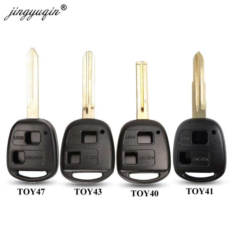 Jingyuqin 2 Taste Remote Key Fall Für Toyota Camry RAV4 Prado Corolla Tarago Avensis Avalon EHCO Land Cruiser Fob Shell