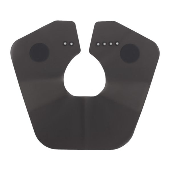 Collar de corte de estilista de peluquería negro, protector de cuello de goma negra para corte de pelo, tinte de salón, accesorios de peluquero