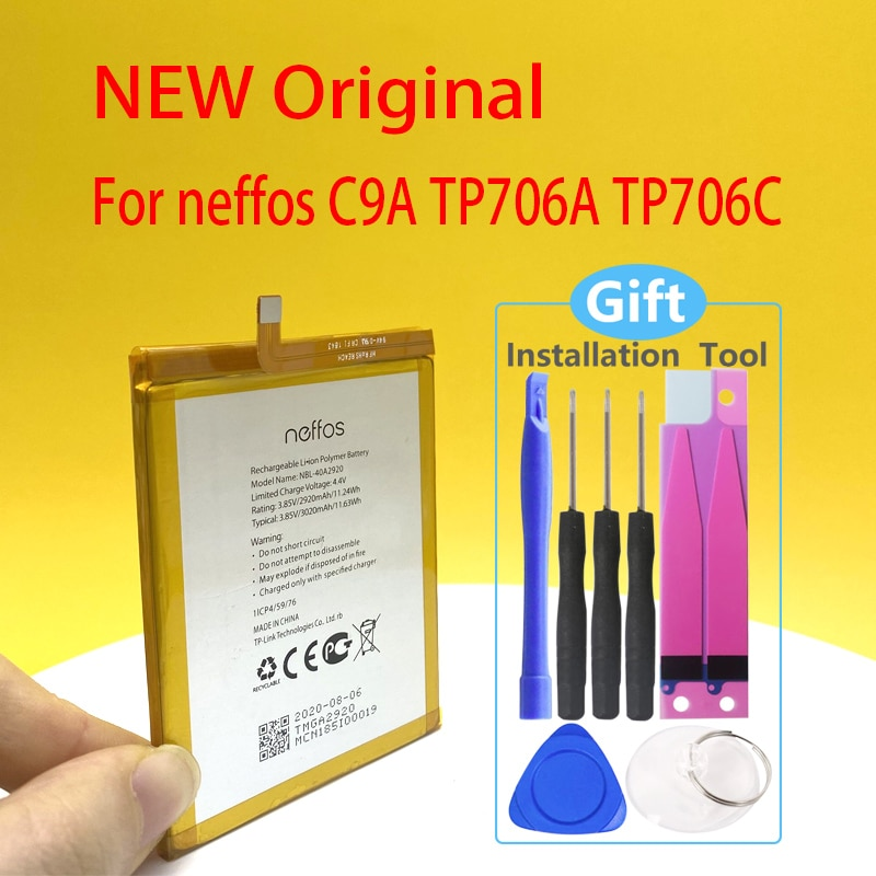 3020mAh Battery For TP-link Neffos C9A TP706A TP706C NBL-40A2920 NEW Mobile Phone Battery In Stock