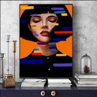 nordic modern colorful beauty women poster abstract character canvas painting light luxury picture for living room decor