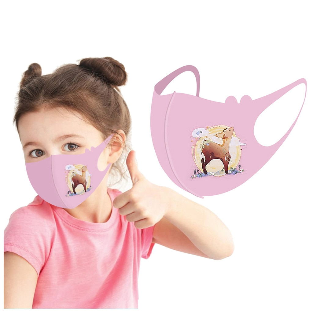 Mascarillas faciales de seda de hielo para niños, máscaras transpirables y lavables,...