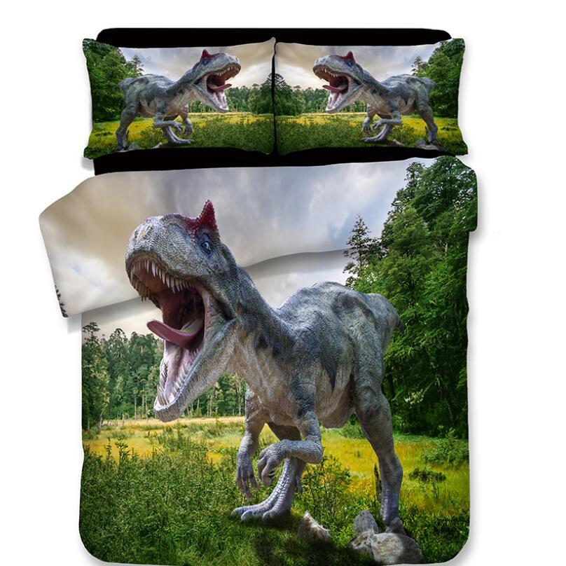 3D ديناصور طباعة طقم سرير أغطية لحاف سادات جديد مجاميع راحة الفراش طقم سرير s أغطية أغطية سرير 10