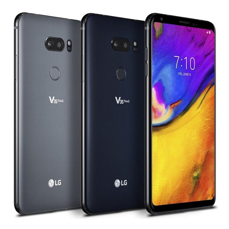 Фото2 - Смартфон LG V35 ThinQ V350N V350AWM, разблокированный, мобильный телефон, экран 6,0 дюйма, 6 ГБ ОЗУ 64 Гб ПЗУ, Восьмиядерный 16 Мп, сканер отпечатков пальцев, ...