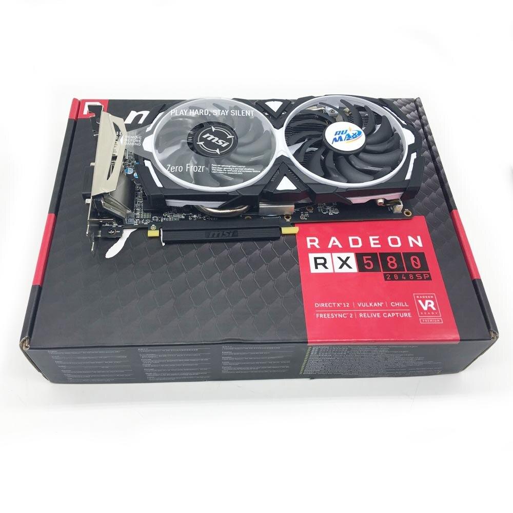 Rumax RX580 ETH/XMR Bergbau GPU Karte MSI XFX AMD Radeon RX 580 RÜSTUNG 4G 8G OC verwendet Gaming Grafikkarte mit 4GB 256 bit Speicher