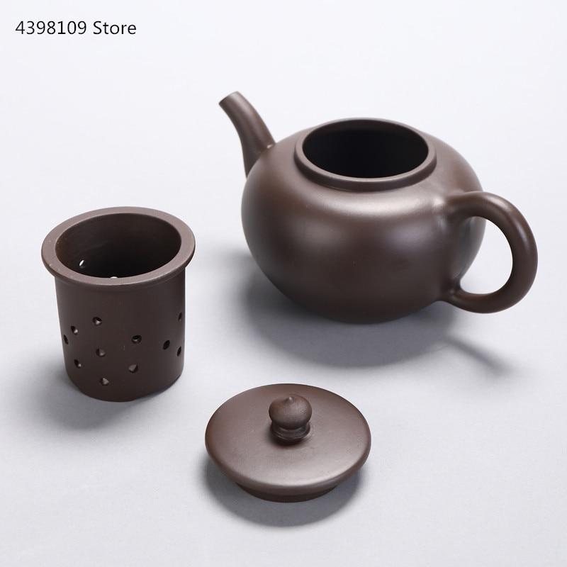 Tetera de arena púrpura Yixing auténtica de 450-900 ml/tetera hecha a mano con revestimiento cerámico, tetera kungfú chino