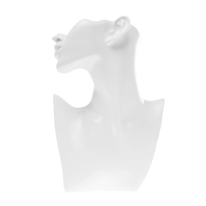 Support en résine pour bijoux buste forme Mannequin blanc