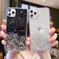 iphone case individuality paillette iphone 12 pro max case tide girl simple case for iphone 11creative silica gel