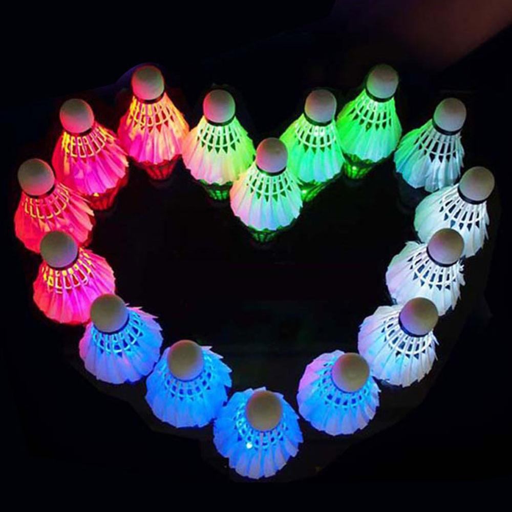 6 шт. светодиодный бадминтон волана со светодиодной подсветкой для игры в бадминтон (с электричеством), который используется для струйного п...