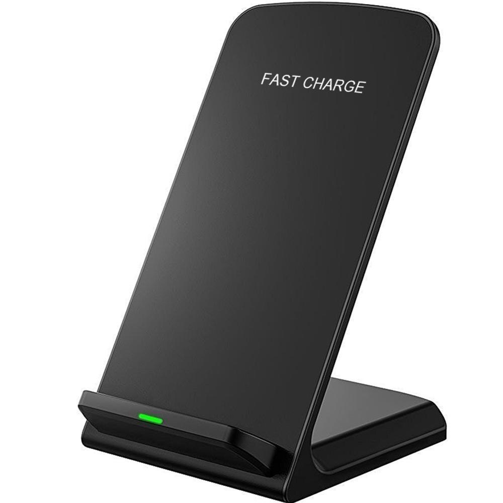 Soporte de cargador inalámbrico Qi para iPhone 11 Pro 7 8 plus X XS Samsung S20 S10 S9 estación de carga rápida soporte de cargador de teléfono