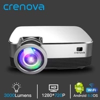 CRENOVA     projecteur video Android Q6  resolution native 1280x720 px  Android 8 0  Wi-Fi  Bluetooth  home cinema