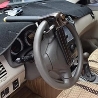 40 dropshipping anti theft steering wheel lock heavy duty sturdy security anti sawing steering wheel lock for vehicles