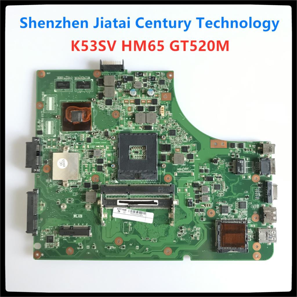 Motherboard Para ASUS K53S K53SV A53S K53SV K53SJ P53SJ X53S laptop Motherboard REV 3.1/3.0 GT520M K53SV Mainboard 100% teste ok
