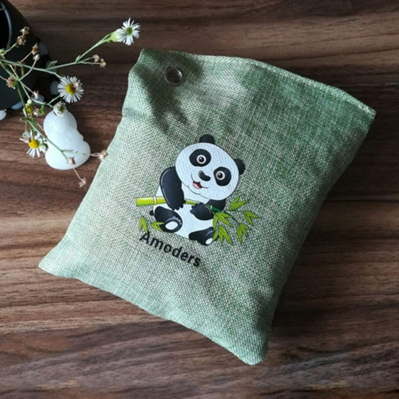 Bolsa purificadora de aire Natural a prueba de humedad, desodorante de carbón y bambú activado, transpirable, carbón de bambú verde