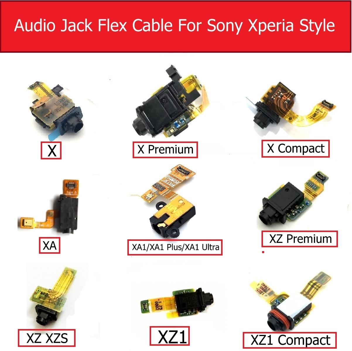 Dla Sony Xperia X/X Compact/X Performance/XA/XA1P/XA1 Ultra/XZ Premium/XZ/XZS/XZ1 mini Audio Jack Flex Cable naprawa części