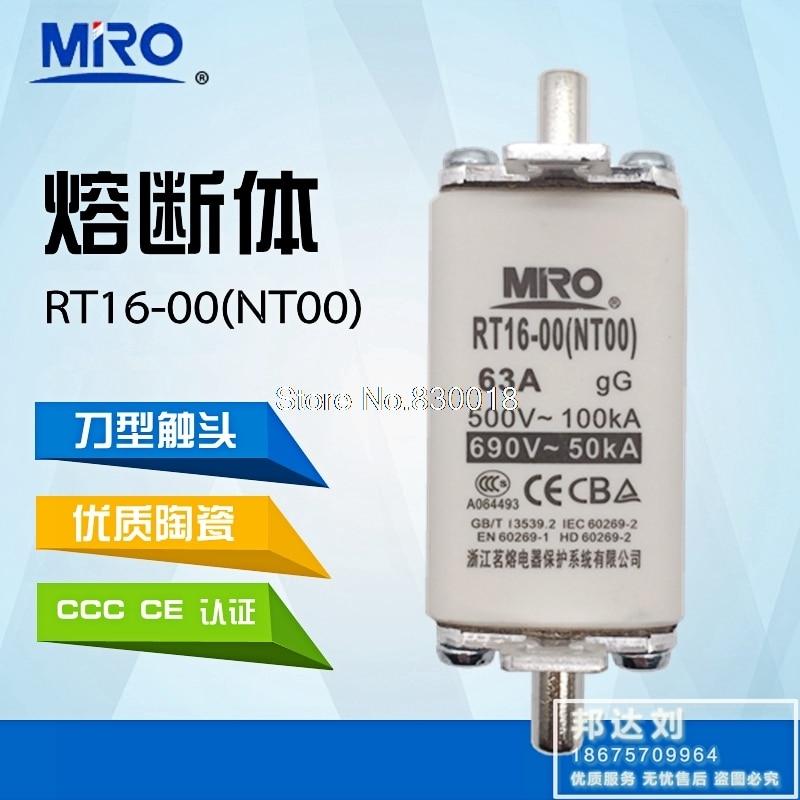 MRO Mingrong RT16-00 NT00 32A 40A 50A 63A 80A 100A 125A 160A ntoo RT20-20PCS/LOT