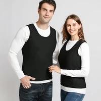 s 6xl winter inner fleece soft heating thermal underwear smart electric heating vest men and women same electric heating vest