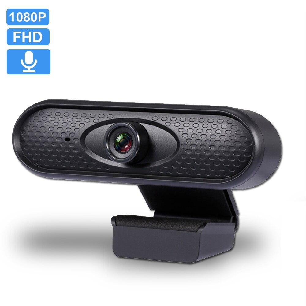 Webcam USB 1080P FHD, ordenador, cámara Web con micrófono incorporado de fidelidad antivibración, fácil de instalar, sin unidad, portátil, Webcam de escritorio