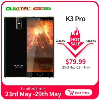 OUKITEL K3 Pro 5.5'' FHD MT6763 Octa Core Android 9.0 Smartphone 4GB 64GB 6000mAh 9V/2A Fingerprint Face ID Mobile Phone