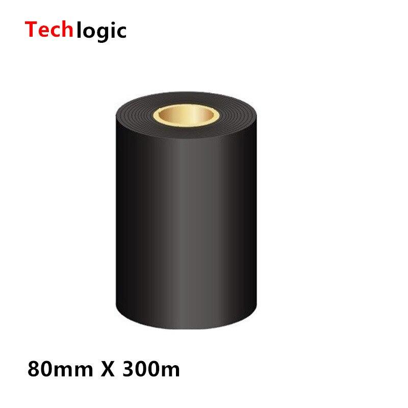 60 70 80*300 восковые ленты 80 90 100 110 мм * 300 м черные чернила восковая лента 80 мм X 300 м для этикеток штрих-код термопринтер