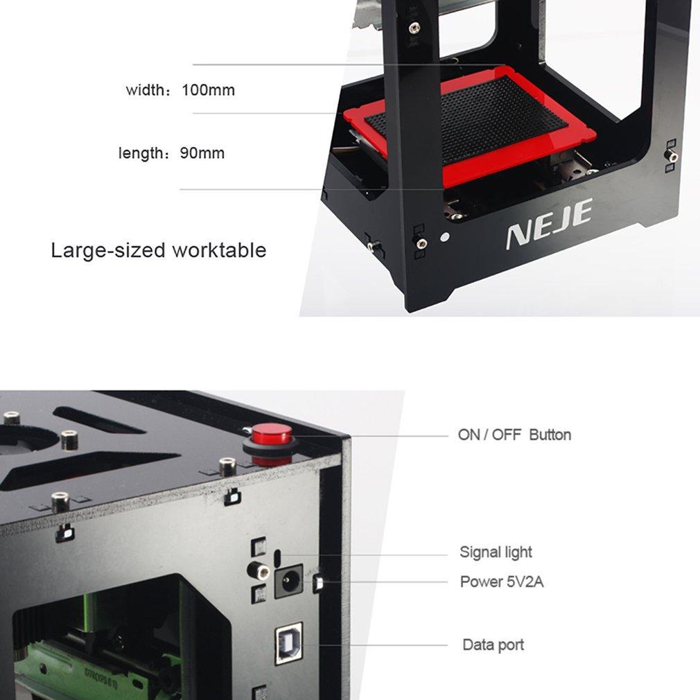 NEJE DK-8-KZ 1000mW/2000mW/3000mW Mini USB Laser Engraving Machine Automatic CNC Wood Router Laser Engraver Printer Cutter Cutti enlarge