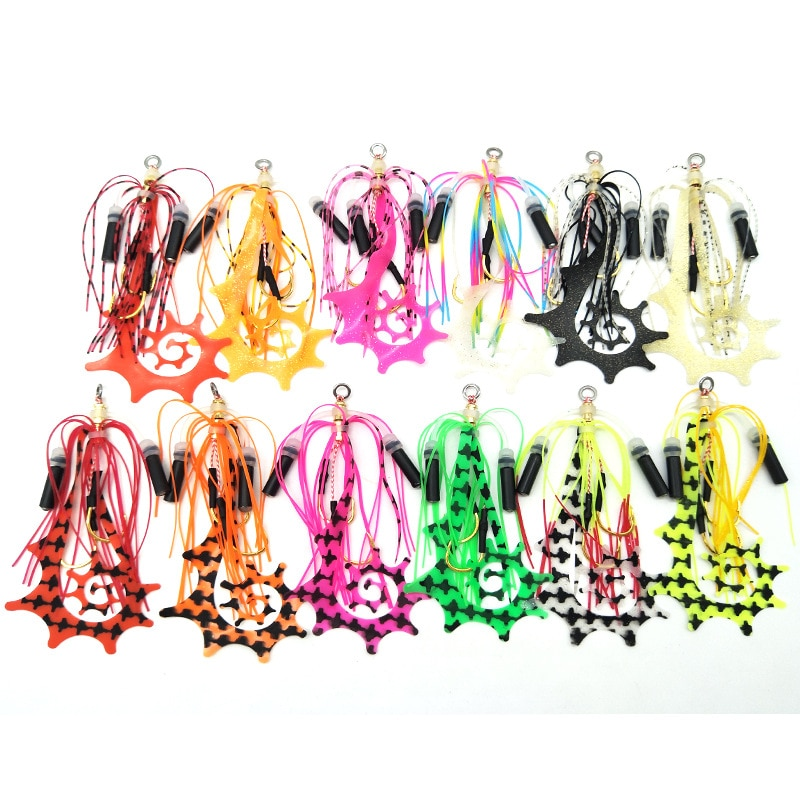 AliExpress - Kabura Jigging Madai Assist Hooks Strong Tai Rubbers Silicone Skirts Filaments Ribbons Different Colors Slider Jigs Tails Sinker