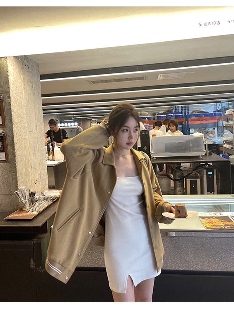 Jackets Women Baseball Suit Women's 2021 New Loose Lazy Casual Jacket High Street Coat