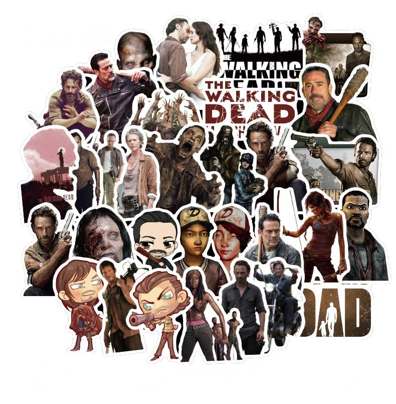 50pcs-american-tv-series-the-walking-dead-season-walking-dead-sticker-per-valigia-frigorifero-scooter-cosplay-graffiti-sticker