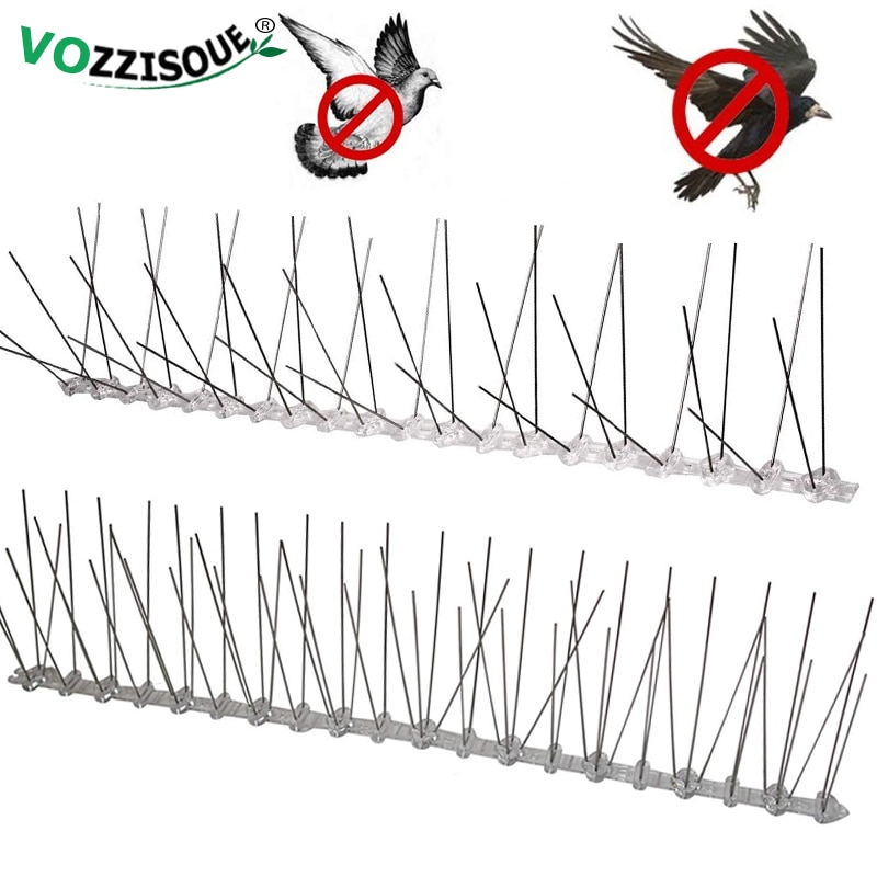 Repeler din plastic pentru pasăre și porumbel, bandă anti-păsări din oțel inoxidabil, respingător pentru porumbei