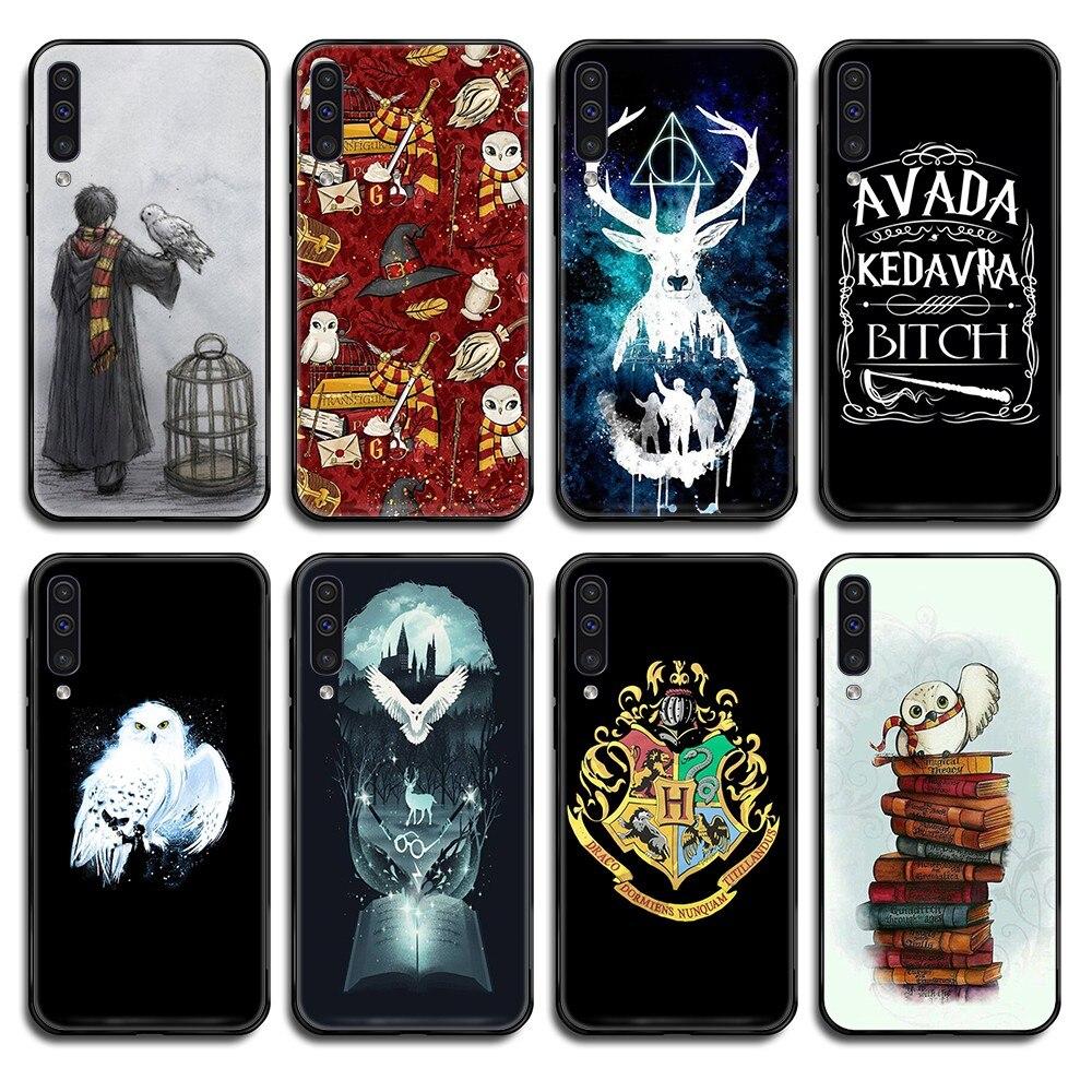 Hogwart Harries Potter mate Comic negro teléfono caso para Samsung Galaxy nota C 3 4 5 6 7 8 10 20 40 50 70 E S Plus Pro