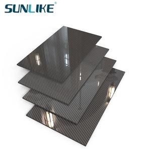 0.25-4.0MM 200mm X250mm 100% 3K Carbon Fiber Plate Panel Sheets Board Fiberic High Composite Hardness Material for RC Model