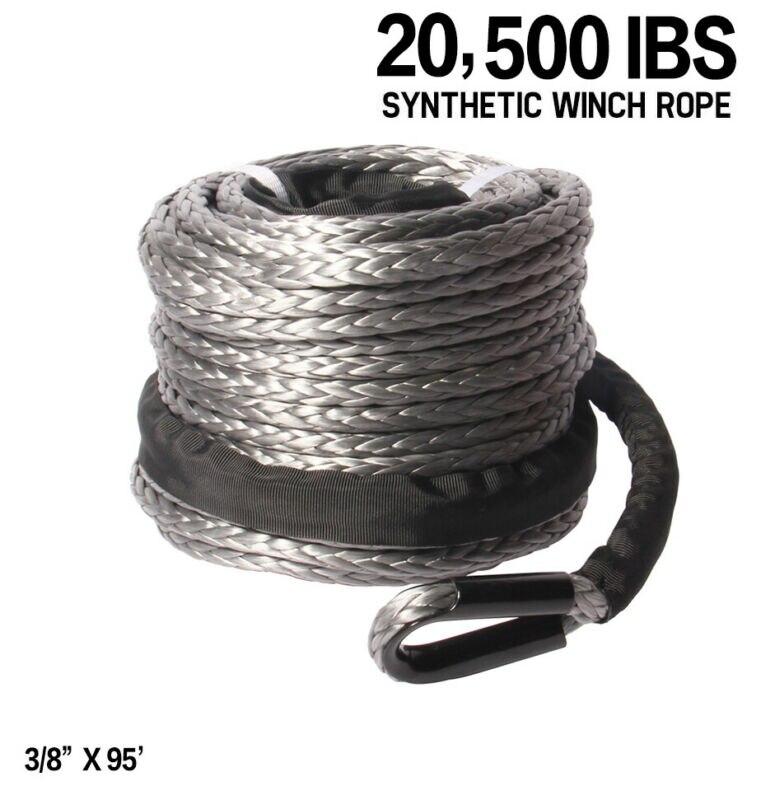 Cabrestante de 3/8 pulgadas X 95 pulgadas, cuerda de Cable de línea...
