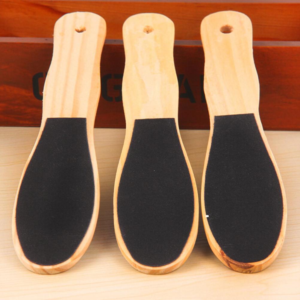 Pro arquivos removedor de calo de arquivo de pé dupla face para pés de madeira pedicure ralador para suavizar a pele dura e grossa seca e dura