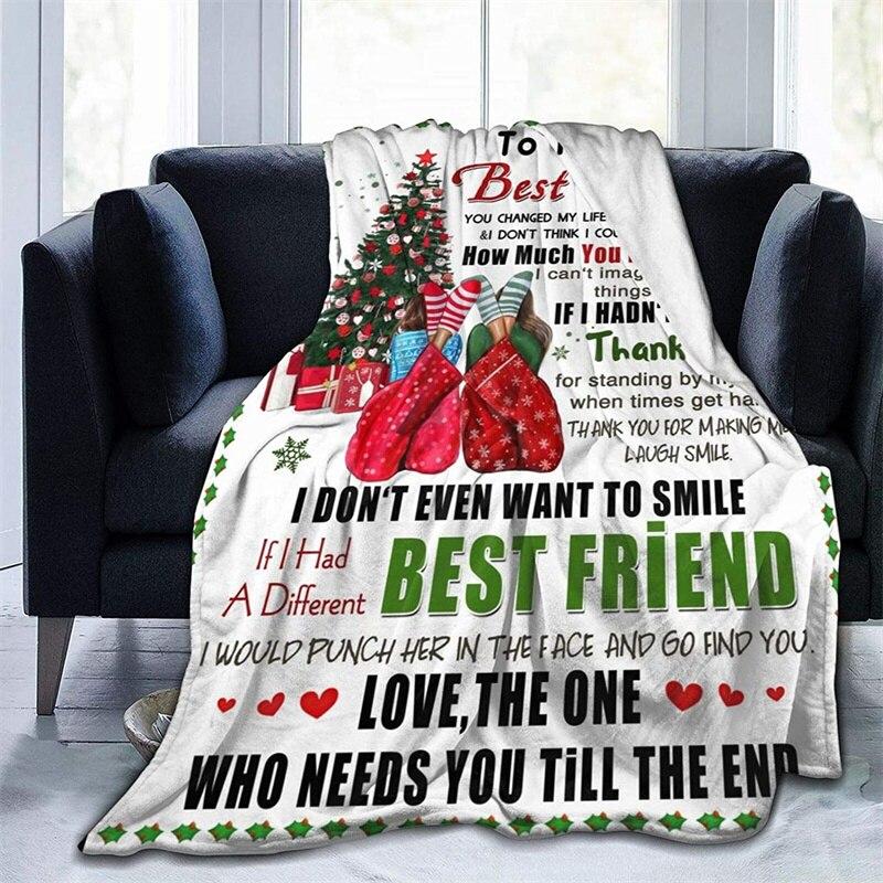 إلى صديقي لينة أفخم هدية الفانيلا صوف ليف دقيق المفرش شيربا 3d-print بطانية الأريكة غرفة نوم ديكور