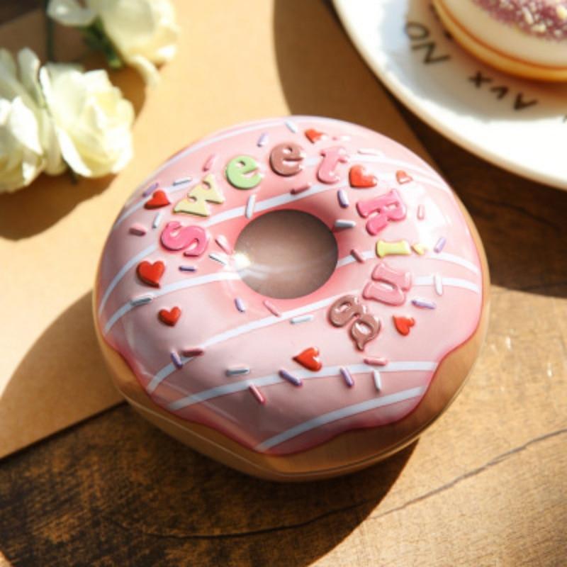Boîte en fer-blanc boîte à bonbons en forme de donuts   Boîtes vides, Cookie chocolat, stockage Macarons bijoux mallette de transport, organisateur boîte de rangement