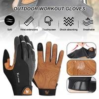 bike gloves men and women non slip full finger gloves touch screen breathable cycling gloves shock absorbing outdoor gloves