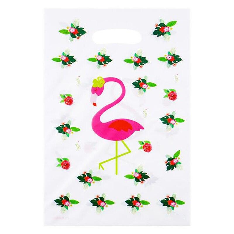 20 шт./упак. Happy Baby Shower события вечерние Дети Девушки Свадебные сувениры Пластик грабить мешки украшения для дня рождения с изображением флам...