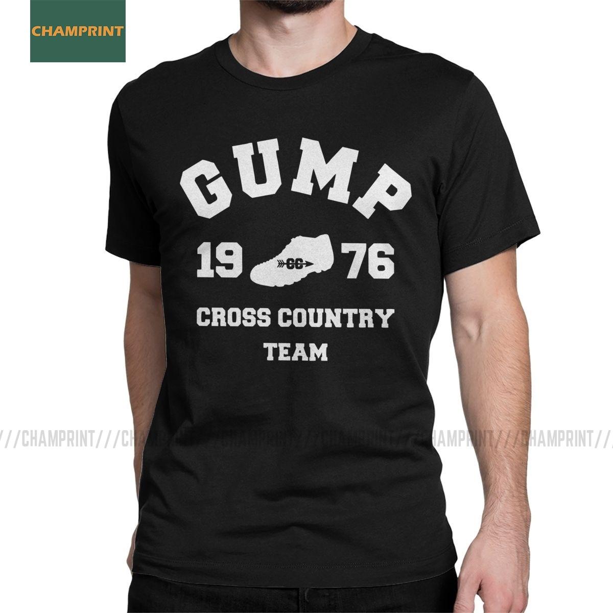 Men Forrest Gump Cross Country Team T Shirt Run Tom Hanks Movie Film Cotton Short Sleeve Round Collar Tees New Arrival T-Shirts