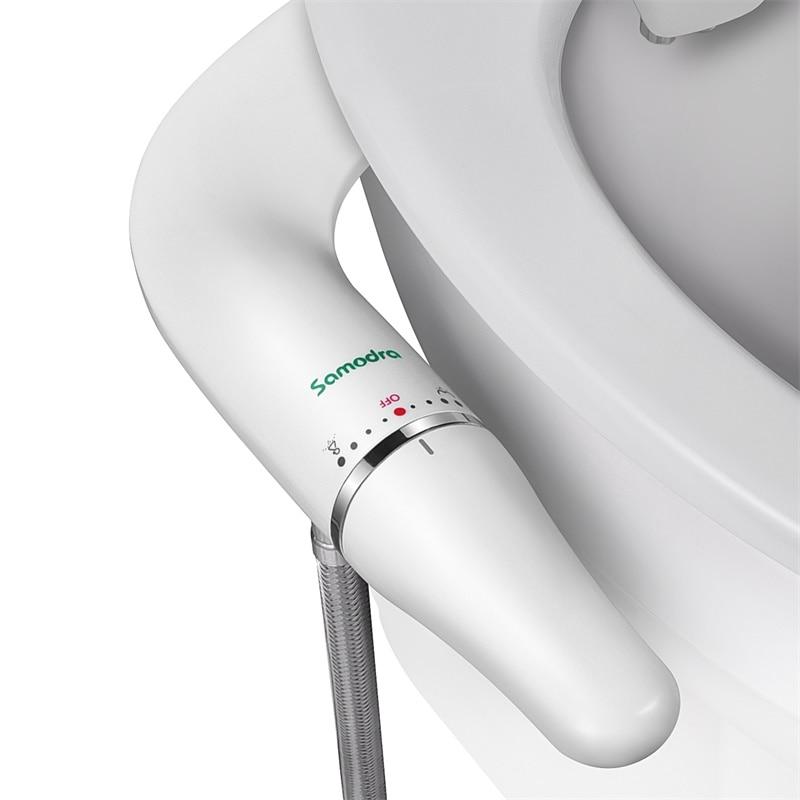 SAMODRA Bidet Attachment Ultra-Slim Toilet Seat Attachment With Brass Inlet Adjustable Water Pressure Self-cleaning Ass sprayer