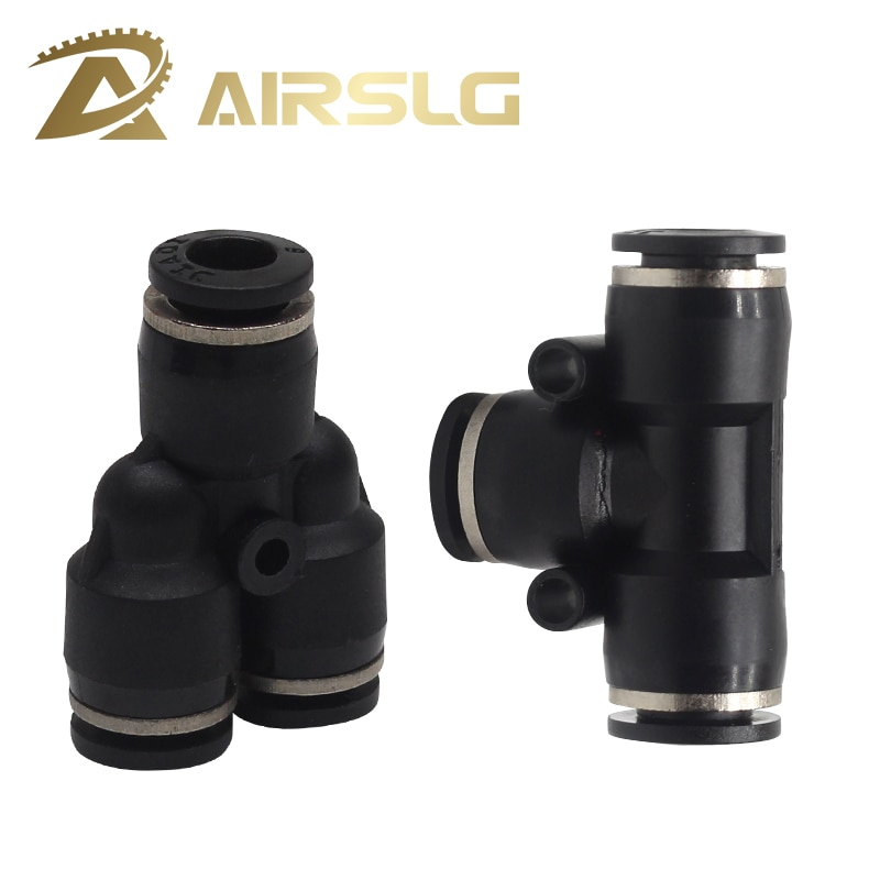 """brass 1 2 od x 3 8 od flare forged reducing swivel nut union tube fitting 10Pcs One touch fitting PE Union tee PY union """"Y"""" 3 Way Port Air Pneumatic 4 6 8 10 12mm OD Hose Tube Quick Push in Pipe Fitting"""