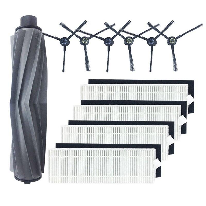 AD-1 cepillo principal 4 filtros HEPA 4 esponjas 6 cepillos laterales para Ilife A7 A9S Aspiradora Robótica accesorios de Ilife A7 A9S Ac