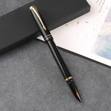 Hero-stylos de fontaine en métal, stylo de fontaine, pour cadeau, noir et or, livraison gratuite